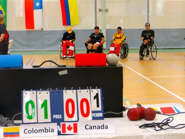 1er match BC4 de la journée, La Colombie mène au score!
